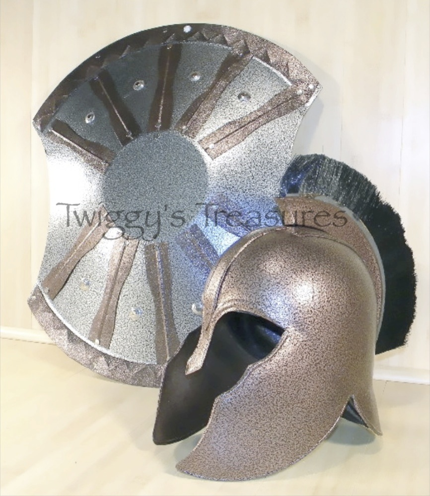 Helmet Sword Shield Trojan Shield And Helmet of