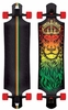 Santa Cruz Lion God Rasta Drop-Through Longboard Assembled Complete 40""