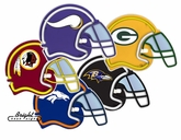 All 32 NFL Teams - Neon Helmets
