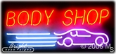 Auto Body Shop Neon Sign
