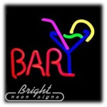 Bar & Martini Neon Sculpture