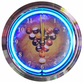Billiard Spaceballs Neon Clock