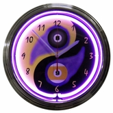 Billiards Yin Yang Neon Clock