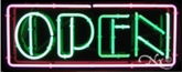Block Neon Open Sign