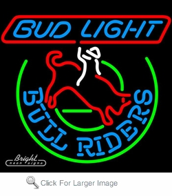 Bud Light Bull Riders Neon Sign