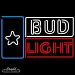 Bud Light Flag Neon Sign