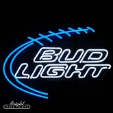 Bud Light Football Neon Sign
