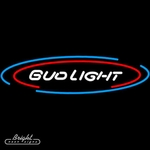 Bud Light Large Oval Neon Sign