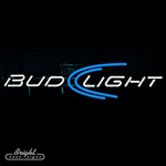 Bud Light Simple Logo Neon Beer Sign