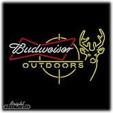Budweiser Outdoors Neon Sign