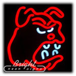 Bulldog Neon Sculpture