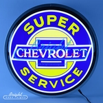Chevy Super Service Backlit LED Sign