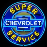 Chevy Super Service Neon Sign