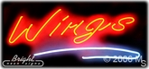 Chicken Wings Neon Sign
