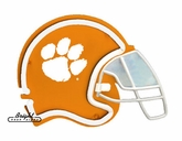 Clemson Tigers Football Neon Helmet