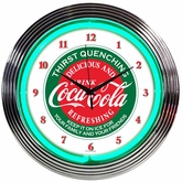 Coca-Cola� Evergreen Neon Clock