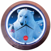 Coca-Cola� Polar Bear Neon Clock