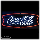Coca-Cola Ribbon Neon Sign