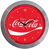 Coca-Cola� Wave Neon Clock