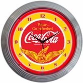 Coca-Cola� Wings Neon Clock