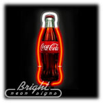 Coke Bottle Neon Sculpture