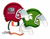 College Neon Football Helmets