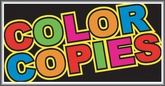Color Copies Lightbox Sign