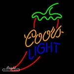 Coors Light Chili Pepper Neon Sign