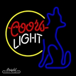 Coors Light Coyote Neon Beer Sign
