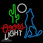 Coors Light Coyote Neon Sign