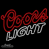 Coors Light Double Stroke Neon Sign