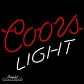 Coors Light Logo Neon Sign