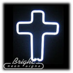 Cross Neon Sculpture