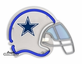 Dallas Cowboys Neon Helmet