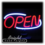 Deco Open Neon Sculpture