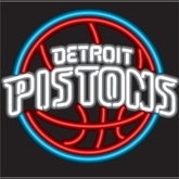 Detroit Pistons Neon Sign