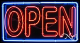 Extra Large Square Neon Open Sign