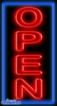 Extra Large Vertical Neon Open Sign