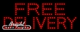 Free Delivery LED Sign