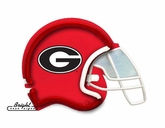 Georgia Bulldogs Football Neon Helmet