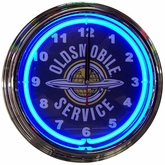 GM Oldsmobile Service Neon Clock