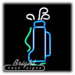 Golf Bag Neon Sculpture