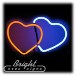 Hearts Neon Sculpture