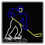 Hockey Player Neon Sculpture