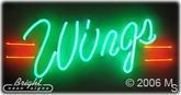 Hot Wings Neon Sign