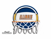 Illinois Neon Basketball Sign