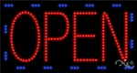 Large Animated LED Open Sign