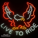 Live to Ride Neon Sign