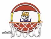 LSU Tigers Neon Basketball Sign