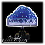 Mancave Neon Sculpture